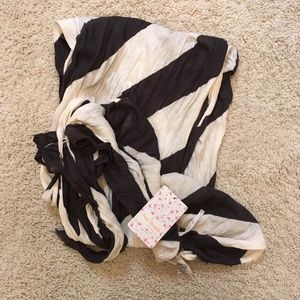 Free People Striped Scarf, NWT